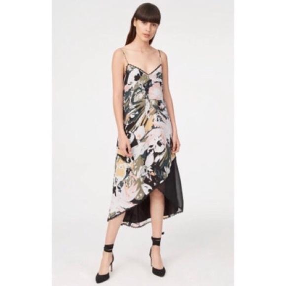 8be19b5d13ce Club Monaco Dresses   Kittrick Floral Silk Slip Dress Euc   Poshmark